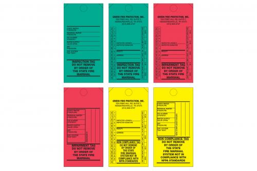 Fire Inspection Tags