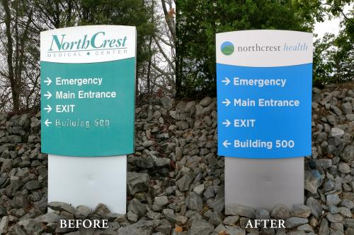 Campus Sign Refresh Before/After